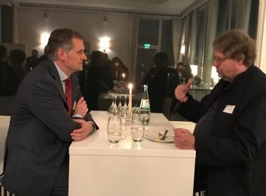Gute Gespräche am Rande mit Dr. Kolba aus Wien